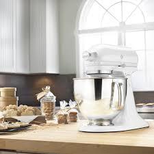 kitchenaid 5 quart artisan stand mixer matte white everything