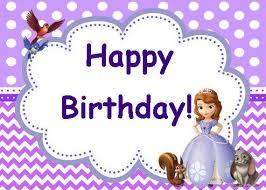 sofia the birthday sofia the birthday party card set instant