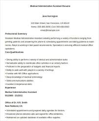 Medical Administrative Assistant Skills Resume Best Administrative Resume 17 Free Word Pdf Documents Download