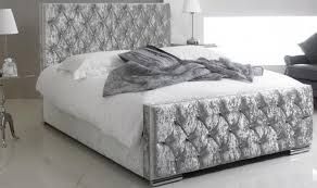 Bed Frames Belfast New Boxed Crushed Velvet Bed Silver Free Delivery In Belfast