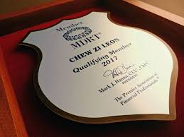 members of the round table pec plaques showcase achievement for million dollar round table