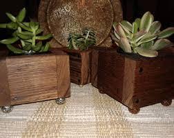 small wood planter etsy