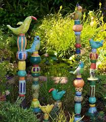 best 25 garden totems ideas on yard glass