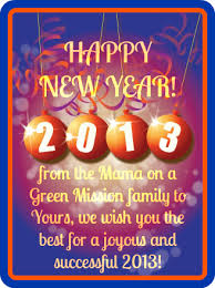 happy new year from our family to yours on a green mission