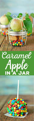 candy apple party favors dessert in a jar is so much and is a great fall party idea this