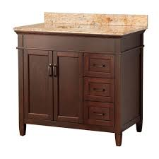 foremost ashburn 37 in w x 22 in d bath vanity in mahogany with
