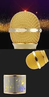 Jual Hair Dryer Baterai ws 858 wireless bluetooth hifi karaoke microphone golden free