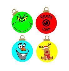 christmas ornaments grinch olaf snowman santa cam reindeer cutting