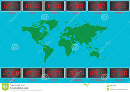 Global Time Zones Map by Time Zones Stock Photos Image 33917603