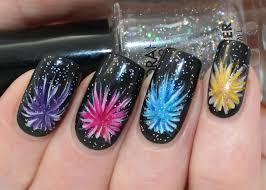 new years eve firework nail art tutorial youtube