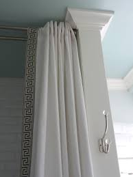 Curtain Crown Molding Ceiling White Curtains With Ceiling Mounted Curtain Rods And