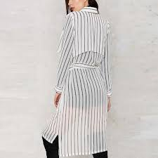black and white striped blouse a forever lapel sleeve blouse slim shirt