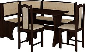 breakfast kitchen nook table set l shaped storage bench with