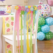 diy chair sashes flower and streamer chair sashes diy party city