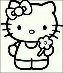 sweet hello kitty coloring sheets download color zini