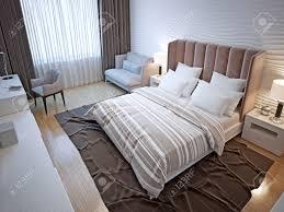 hotel bedroom interior contemporary bedroom with white wavy