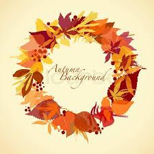 autumn wreath autumn wreath stock vector colourbox