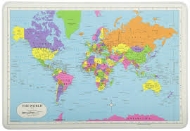 World Map New Zealand by Painless Learning Placemats World Map U2013 Funfixx Co Nz
