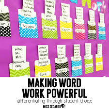 differentiating word work the power of student choice miss decarbo