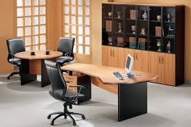decorating a small office office classic decoration with book shelves and wooden table to