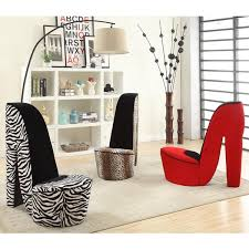 High Heel Shoe Chair Silver Orchid Gardner High Heel Shoe Fabric Chair Free Shipping