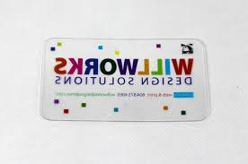 printing clear plastic business cards square cards oval business