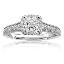 princess cut engagement rings white gold karena princess cut halo engagement ring in 14k white gold
