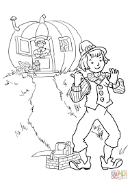 peter pumpkin eater nursery rhyme coloring page free printable
