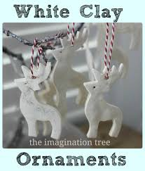 How To Make Homemade Ornaments by White Clay Ornaments Tutorial The Imagination Tree