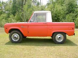 jeep half hardtop orange and white 1966 ford bronco half cab cars pinterest