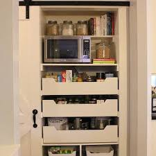 Ikea Barn Door Kitchen Pantry With Sliding Barn Door Traditional Kitchen A