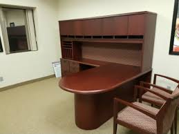 Office Furniture Kitchener Waterloo Wood Veneer L Shape Suite Mahogany Kitchener Waterloo Used