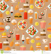 seamless pattern with fast food and drink royalty free stock