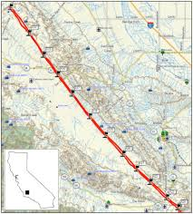 San Andreas Fault Line Map 24sept2009 Imagery