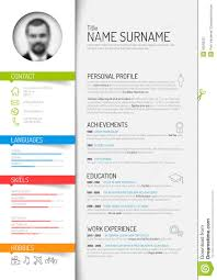 curriculum vitie cv resume template stock vector image of green blue 50593221