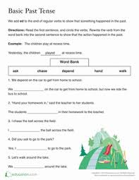 past tense ed worksheet education com