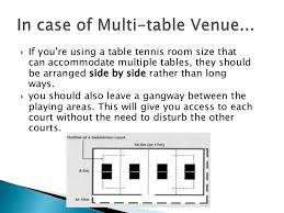 What Are The Dimensions Of A Ping Pong Table by Table Tennis Facilities
