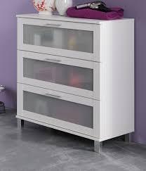 kommode badezimmer kommode florida weiß und glas satiniert