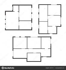 apartment floor plan set top view vector u2014 stock vector