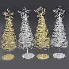 mini iron spiral tree light home festival ornaments