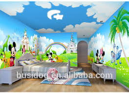 Wallpapers For Children 3d Cartoon Characters Mural Wallpapers For Kids Room Decoration
