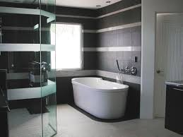 Cool Showers For Bathrooms Bathroom Cool Grey Bathroom With Oval White Bathtub And Glass
