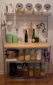 Bakers Racks For Kitchens Glamorous Kitchen Bakers Racks Small Apartment Organization