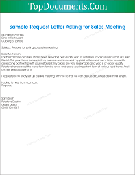 request letter for sales meeting appointment u2013 top docx