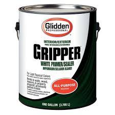 Exterior Paint With Primer Reviews - glidden gripper 1 gal gripper white primer sealer gpg 0000 01