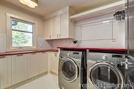 Countertop Clothes Dryer Built In Laundry Room Clothes Rod Design Ideas