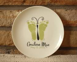 keepsake plates beautiful porcelain keepsake plate your childs actual prints