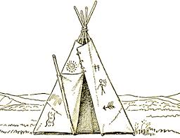 teepee drawing how to draw native american teepees step by step