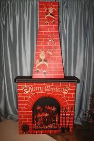 vintage cardboard fireplace vintage