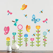 decor petit collage petit collage butterfly garden fabric wall decal